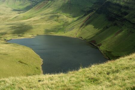 brecon beacons: water reservoir in Brecon Beacons National Park