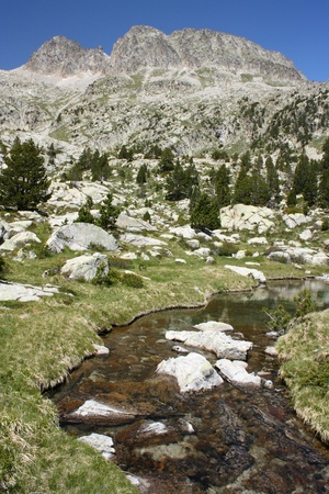 glacial spring in Estos Valley, Aragon Pyrenees Stock Photo - 15495670