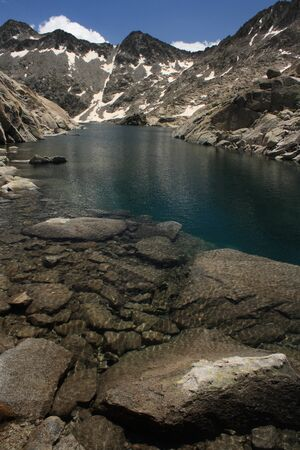 glacial lake Ibon de Creguena photo