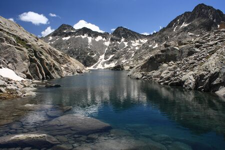 Ibon de Creguena lake in Aragon Pyrenees Stock Photo