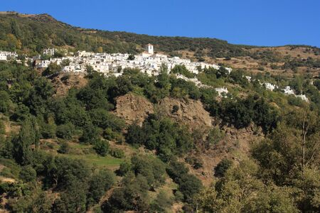 view of Capileira village, Andalusia Stock Photo