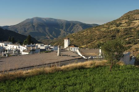 alpujarra: view of Capileira village in La Alpujarra