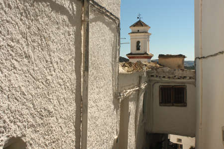 housed: whitewashed housed in Pitres village, Alpujarras, Spain
