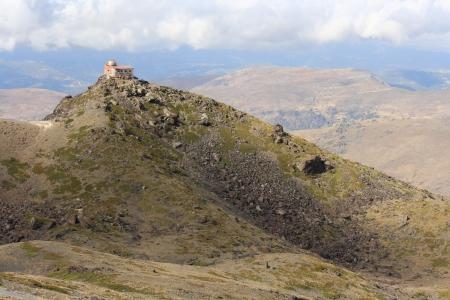 Mohon del Trigo Observatory above Pradollano in Sierra Nevada, Spain Banco de Imagens