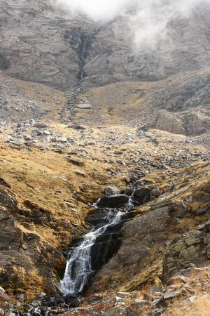 waterfall in Sierra Nevada National Park, Spain photo