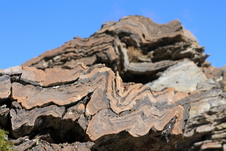 sediments: layers of sediments in rock