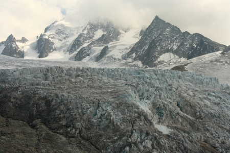 glacial flow in French Alps