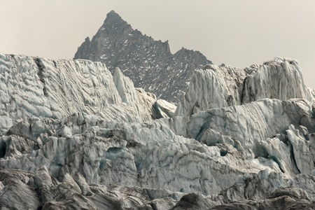 melting glaciers in French Alps photo