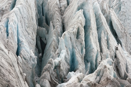 crevasses in alpine glacier photo
