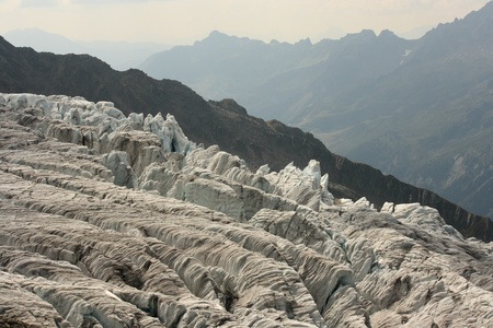 thawing: Glacier du Tour, Chamonix, French Alps