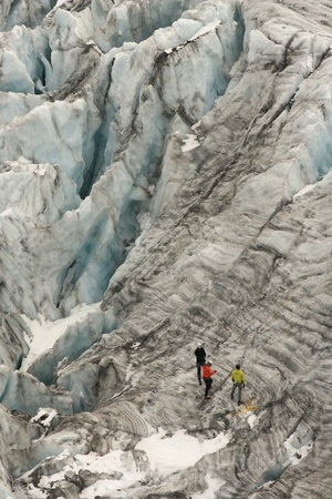 climbers on Glacier du Tour in Rhone-Alps photo