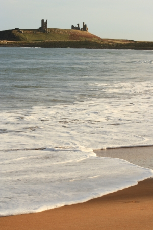 beach in Northumberland near Dunstanburgh Castle
