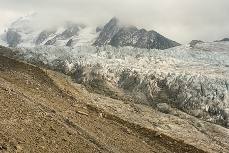 retreating glacier in French Alps photo