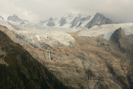 Glacier du Tour in Rhone-Alpes, France photo