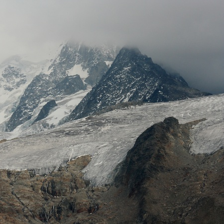 alpes: glacier in French Alps