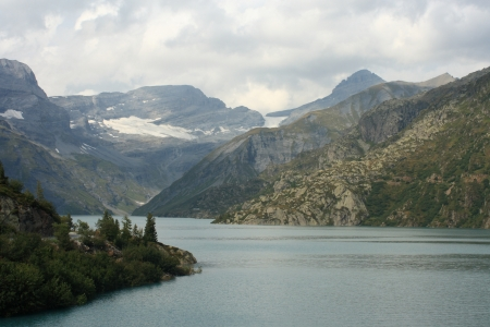 Lac d Emosson in Swiss Alps Stock Photo - 17865440