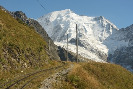 tramway track to Mont Blanc photo