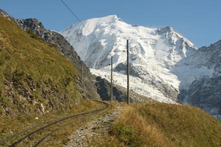 tramway: tramway track to Mont Blanc