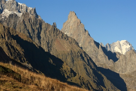 mountain peaks in Graian Alps photo