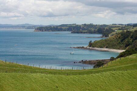 Kawau Bay from Tawharanui Peninsula, New Zealand Stock Photo