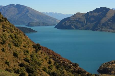 islands on lake Wanaka, New Zealand Stock Photo - 17864896