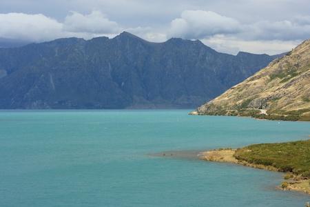 storm over lake Hawea, New Zealand photo
