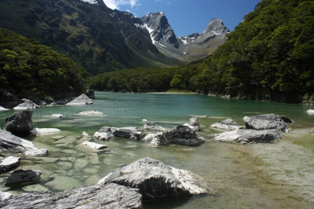 fiordland: lake Mackenzie, Fiordland, New Zealand