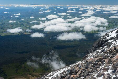 floccus: gathering clouds seen from Mount Taranaki
