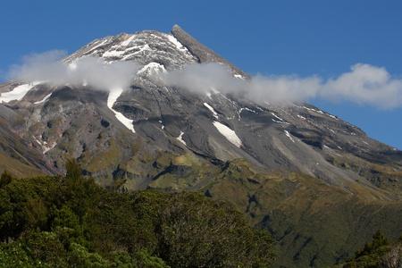 stratovolcano: Mount Taranaki Stock Photo