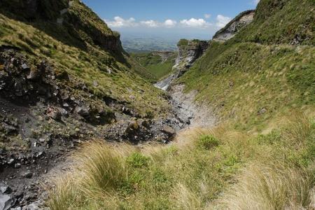 egmont: ravine on slopes of Mount Taranaki, New Zealand