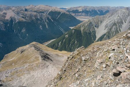 succession: succession of mountain ridges in Arthur s Pass National Park