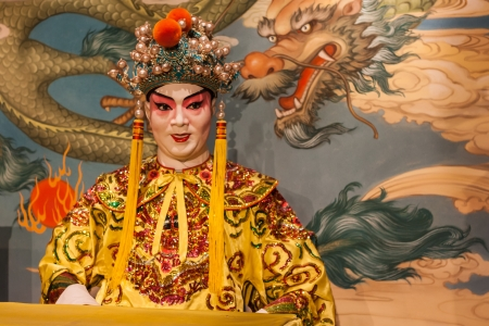 manikin wearing traditional Peking opera costume 스톡 콘텐츠