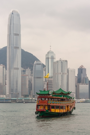 carved ship in Victoria harbour in Hong Kong Stock Photo - 19128409