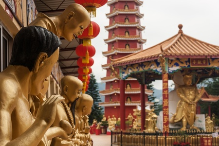 ten thousand buddhas monastery in Sha Tin, Hong Kong photo