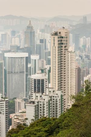 skyscrapers in Hong Kong Stock Photo - 19128408