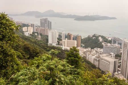 Hong Kong coastline with Lamma island photo