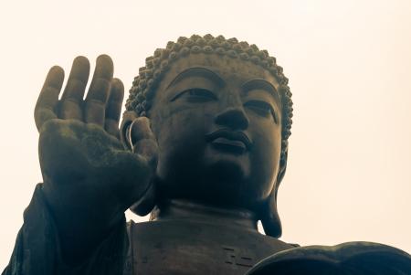 detail of Tian Tan Buddha at Po Lin monastery photo