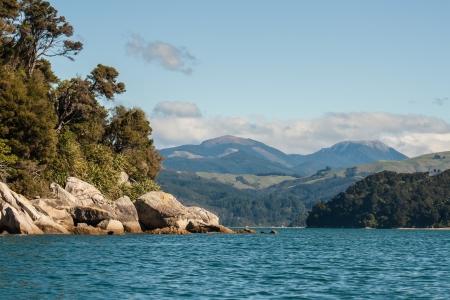 tasman: Sandy Bay in Abel Tasman National Park, New Zealand