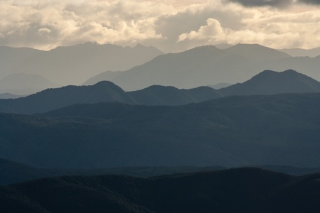 mountain ranges: mountain ranges in Nelson Lakes National Park