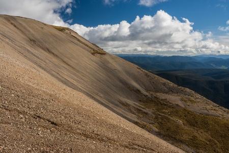 scoria: scoria slopes in Nelson Lakes National Park