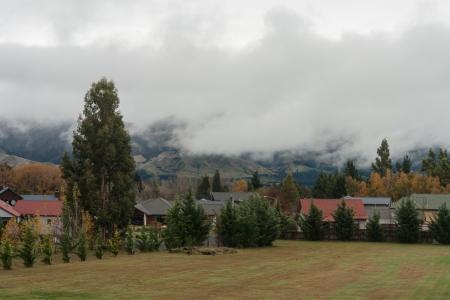 inversion: autumn inversion above Hanmer Spring, New Zealand