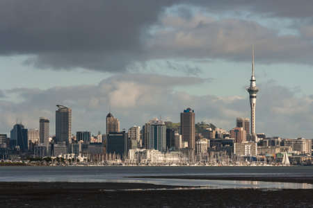 Auckland CBD at low tide