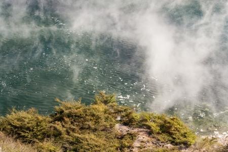 evaporate: Frying Pan Lake in Waimangu, New Zealand