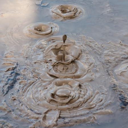 boiling mud 스톡 콘텐츠