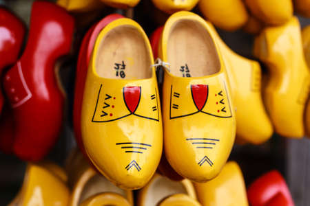 clog: traditional wooden clogs from Netherlands