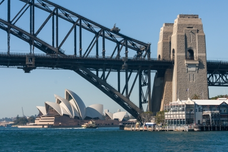 Harbour Bridge and Opera House in Sydney