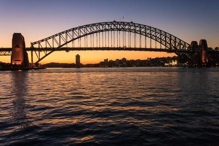 Sydney Harbour Bridge at  sunset photo