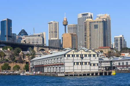port jackson: view of Central Sydney from Jackson Port Editorial