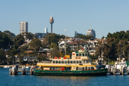 highrises: ferry in Sydney Harbour