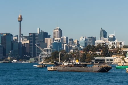 highrises: shipwreck in Sydney Harbour
